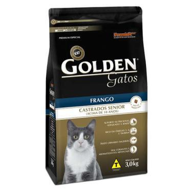 Ração Seca PremieR Pet Golden Gatos Castrados Sênior Frango - 3 Kg
