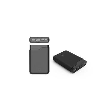 Carregador Portatil Dazz Power Bank Onix 10000Mah 2USB+1Micro USB+Type C Rubber LCD Preto 6014080