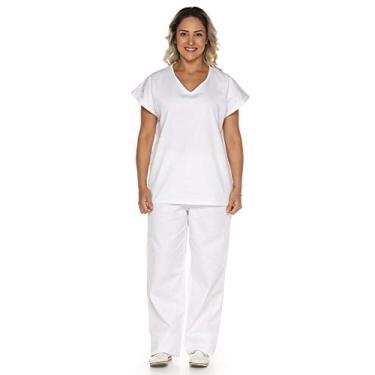 Pijama Cirúrgico em Algodão Branco