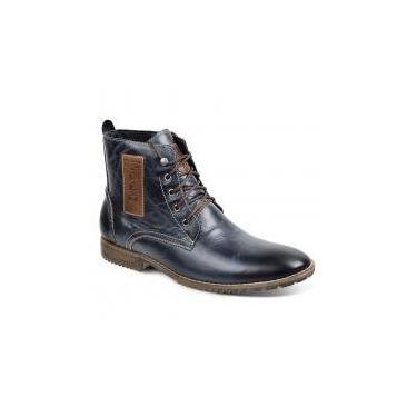 Bota dress boot masculina sandro moscoloni prime azul blue - Sandro republic