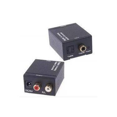Conversor Áudio Óptico Digital Fibra/Coaxial Para Rca Analóg