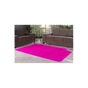 Tapete Liso para Quarto e Sala Tecido de Pelúcia 1,00m x 50cm - Pink