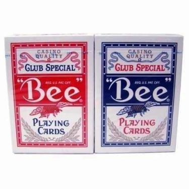 Par Baralho Bee Club Special Casino Quality - Azul e Vermelho