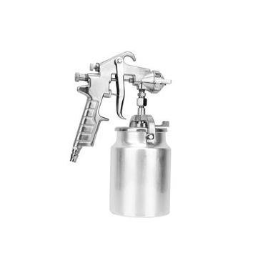 Spray Gun Gravity Gun Paint Feed Air Spray Gun Kit Nozzle 2mm + Cleaning Brush