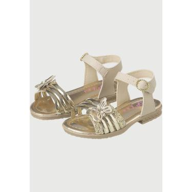 Sandália Infantil Menina Plis Calçados A681 Marfim  menina