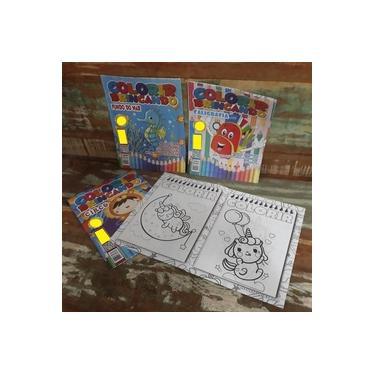 Imagem de Kit 40 Livro Para Infantil Para Desenhar Pintar Colorir