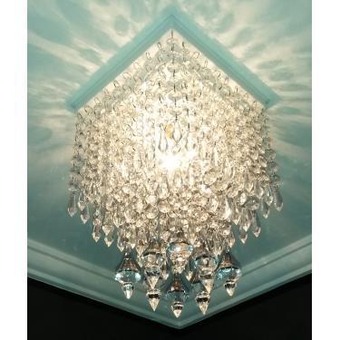 Lustre Plafon de Cristal Acrílico Decoração Sala - Dubai