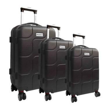 Conjunto de malas para viagem Primicia ABS Giro 360 3 pçs - Cinza