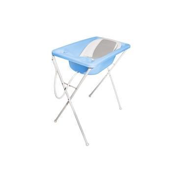 Banheira Para Bebê Galzerano 7065AZP Acqua C/ Suporte E Redutor Azul