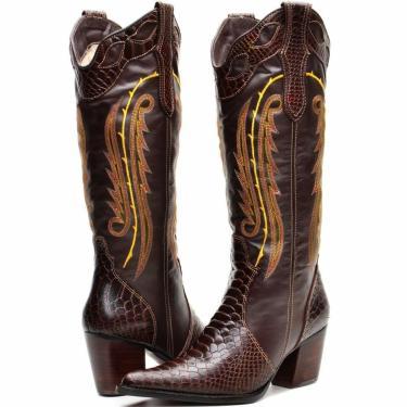 Bota Capelli Country Texana Boots Marrom  feminino