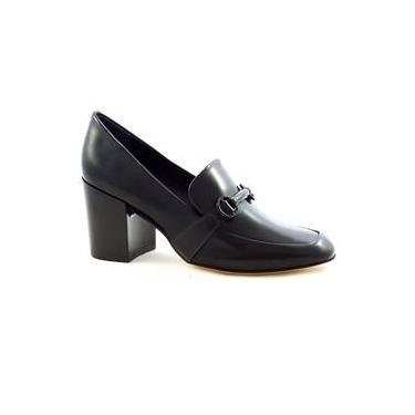 Sapato Scarpin Capodarte Loafer Salto Grosso Médio Verniz 4011659