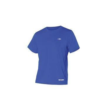 Camiseta Masc Proteção UV Body Fit Mormaii Manga Curta / Azul / P