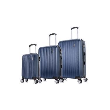Conjunto de malas de viagem P, M e G Londres Plus Swiss Move Marinho