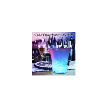 Imagem de 5L Volume 7 Mudança de Cor Barras de Balde de Gelo com Luz LED Boates Balde de Gelo Champanhe Balde de Cerveja Plástico