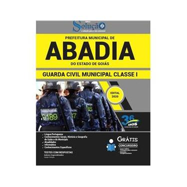 Imagem de Apostila Abadia De Goiás Go Guarda Civil Municipal Classe 1