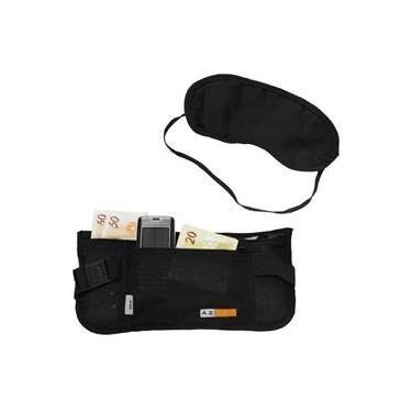 Kit Vox Azteq Pochete tipo money belt + Tapa Olhos