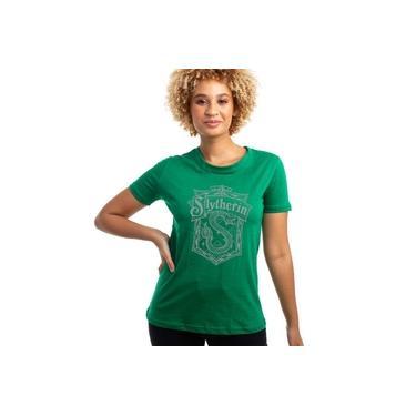 Camiseta Baby Look Harry Potter Sonserina Algodão Oficial
