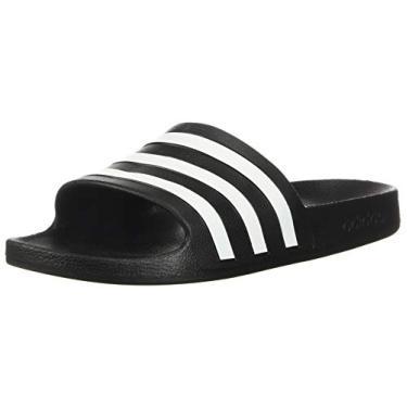 Imagem de Adidas Adilette Aqua Chinelo unissex, Black/White/Black, 7