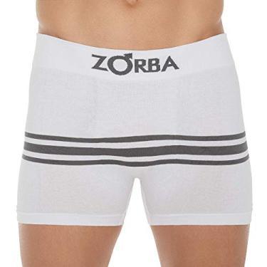 Cueca Boxer Zorba Seamelss Listras 843 M Branco