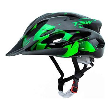 Imagem de Capacete Ciclismo Tsw Raptor 2 Com Led Preto Verde Mtb Xc