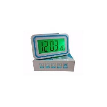 radio relógio color com luz noturna a pilhas hora e temperatura