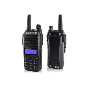 Rádio Ht Comunicador Baofeng Dual Band Uv-82 Rádio Fm