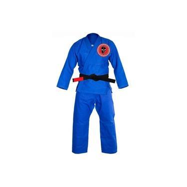 Kimono Jiujitsu New Training Bjj Azul Badskull Naja A1