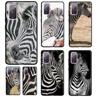 Zebra animal caso de telefone para samsung galaxy s20 fe s21 ultra plus s10 s9 s8 nota 20 ultra 10