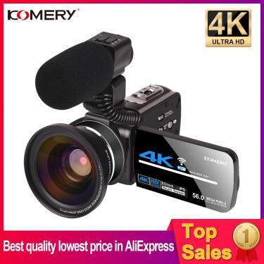 Imagem de 4k câmera de vídeo webcam câmera digital vlogging zoom filmadora 3.0 Polegada tela sensível ao toque