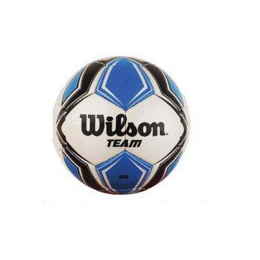 Bola de futebol de campo Team New N.5 Azul Preta Wilson b637263c69085
