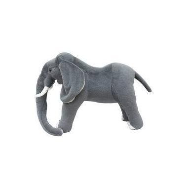 Imagem de Elefante Cinza De Pé 58cm - Enfeite Pelúcia
