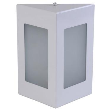 Arandela Triângular Luminária Externa Interna Parede Alumínio Branco - Rei da Iluminação