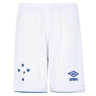 Calção Cruzeiro I 19/20 Torcedor Umbro Masculino - Branco+azul - P
