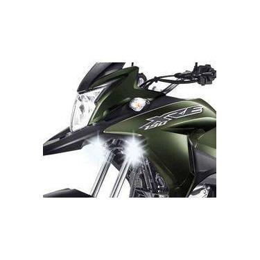 Farol De Milha Neblina Led 18w Drl Moto Honda Xre 190 (par)