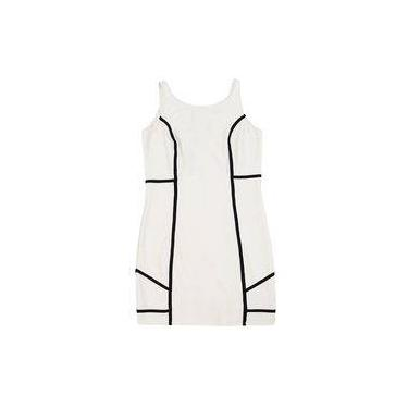 Vestido Bandagem Authoria Off White e Preto