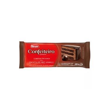 Chocolate Harald Confeiteiro Barra 1,05Kg Meio Amargo