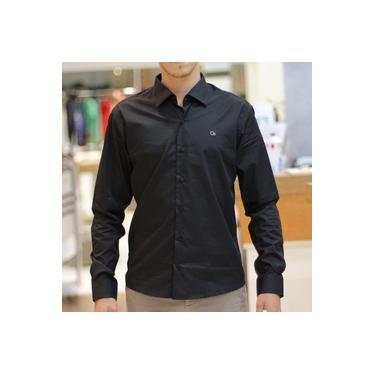 Camisa Social Ogochi 1005012 Ml Cor 5 Preta
