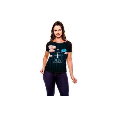 Camiseta Raglan Gospel Rosa De Saron Se Baby Look