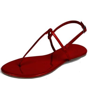 Imagem de Rasteira Mercedita Shoes Verniz Vermelho Ultra Macia Anatômica AREIA, GELO, BORGONHA ,CARAMELO, LAVANDA, AZUL MARINHO, AZUL DENIN, MARSALA, OPALA, PRETO, UVA, VERDE ÁGUA, PRATA, DOURADA feminino