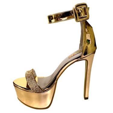 589b829856 Sandália Blume Calçados Luminous Dourada feminino