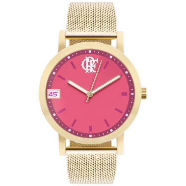 Relógio Clubes Technos Feminino Flamengo Dourado - FLA2035AE 4T FLA2035AE 4T e80726bdb4