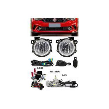 Kit Farol De Milha Neblina Fiat Argo 2018 2019 - Interruptor Alternativo + Kit Xenon 6000k / 8000k Ou Kit Lâmpada Super Led 6000k
