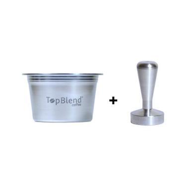 Kit Cápsula Reutilizável Três Corações TopBlend Recarregável + Tamper