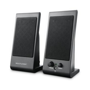 Caixa De Som Multilaser Flat 3W Rms Preto SP009 SP009