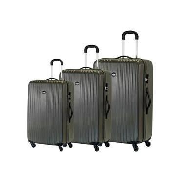 Conjunto de mala de viagem Zurique Swiss Move Cinza