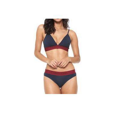 dc018663d Conjunto Calcinha e Sutiã Triangulo Calvin Klein Underwear Cotton