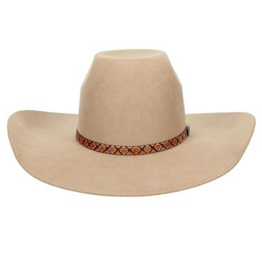 Chapéu Estilo Country De Feltro Bege Texas Diamond 20773