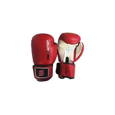f5565c5cc Luva de boxe e Muay Thai profissional Proaction- Vermelho