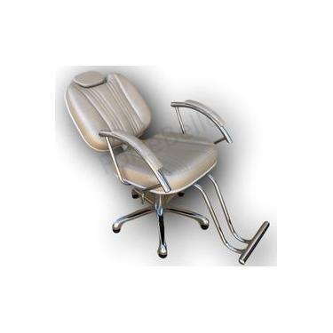 Imagem de Poltrona Cadeira Hidráulica Reclinável Milla para Cabeleireiro e Barbeiro, Salão de Beleza - Fortebello Moveis