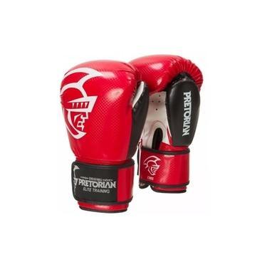 Luva Boxe Muay Thai Pretorian Elite Vermelha/Preta 12 Oz